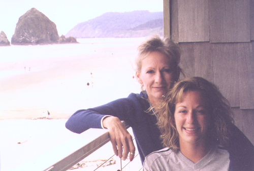 Me & Mom, 1999. View from the deck at our hotel.