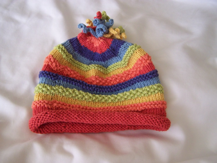 Rainbow Marley hat for Rowan